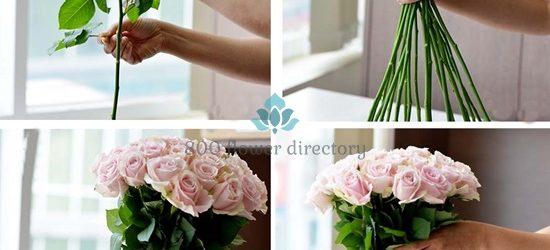 Cách cắm hoa hồng bình cổ cao theo hướng hiện đại