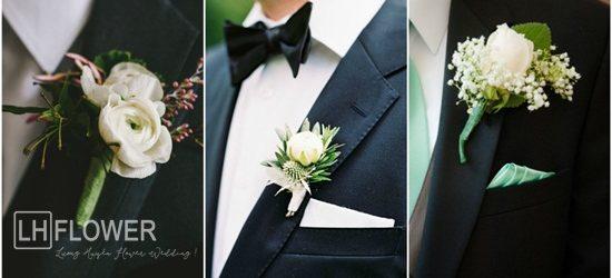 hoa cài vest chú rể